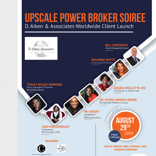 D. AIKEN ASSOCIATES 5TH YEAR CELEBRATION:  UPSCALE POWER BROKER SOIREE ON BROOKLYN ROOFTOP